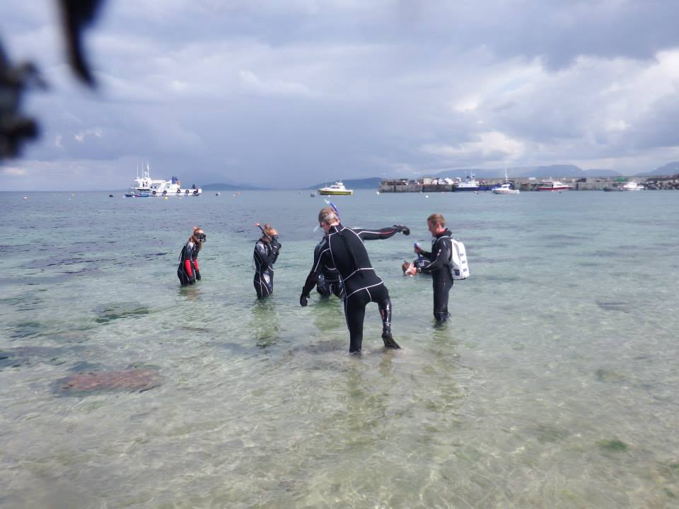 kids snorkelling at Clare Island beach