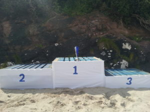 Clew Bay Raft Building Championships podium